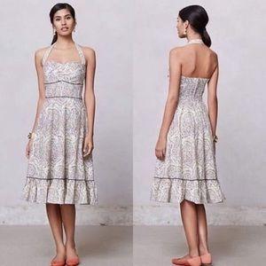 Girls From Savoy Swirled Paisley Halter Dress